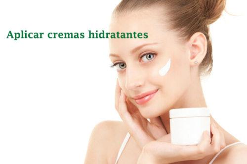 aplicar cremas hidratantes